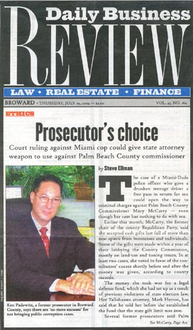 Criminal Defense Fort Lauderdale | Ken Padowitz – Front Page Daily Business Review