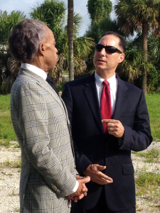 Ken Padowitz speaks to Al Sharpton on law during filming of a Documentary