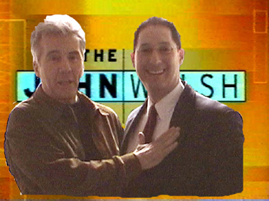 Ken Padowitz with John Walsh at Studio on Set