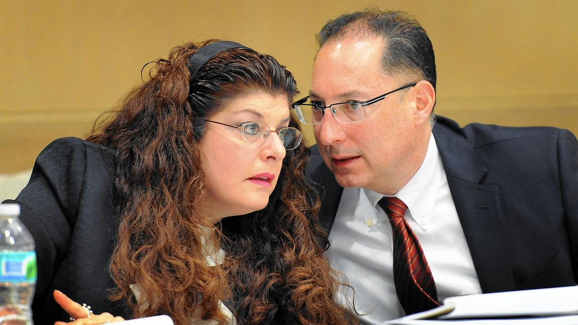 Ken Padowitz with client Stephanie Kraft during Trial