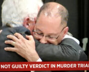 Kenneth Padowitz | Broward Criminal Defense Attorney hugging client after not guilty in murder trial