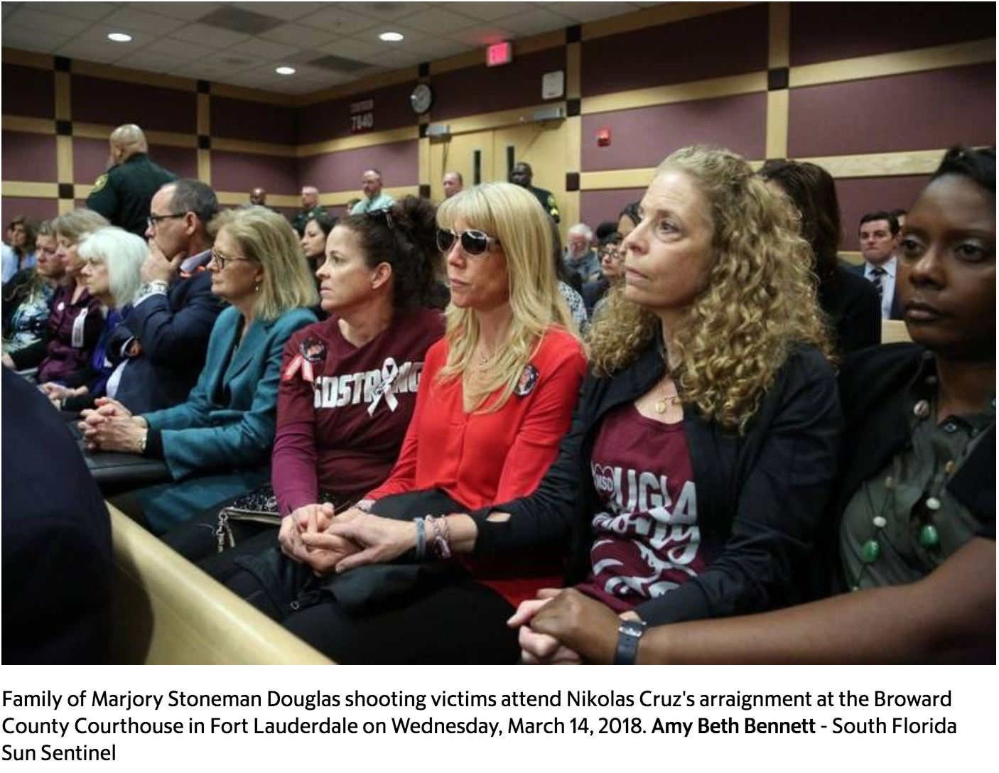 Judge enters not guilty plea for Parkland shooter, who remains mum in court