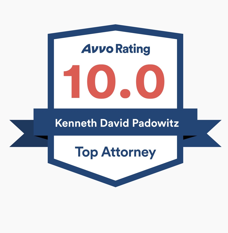 KEN PADOWITZ AWARDED AVVO TOP AWARDS FOR 2019